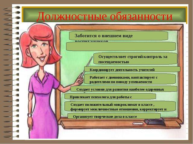 Должностные обязанности Заботится о внешнем виде воспитанников Осуществляет с...