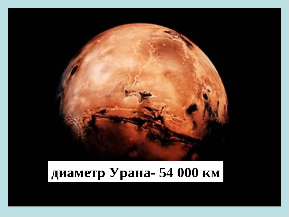 диаметр Урана- 54 000 км
