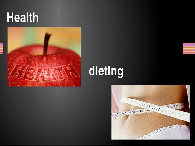 Health dieting Заголовок раздела