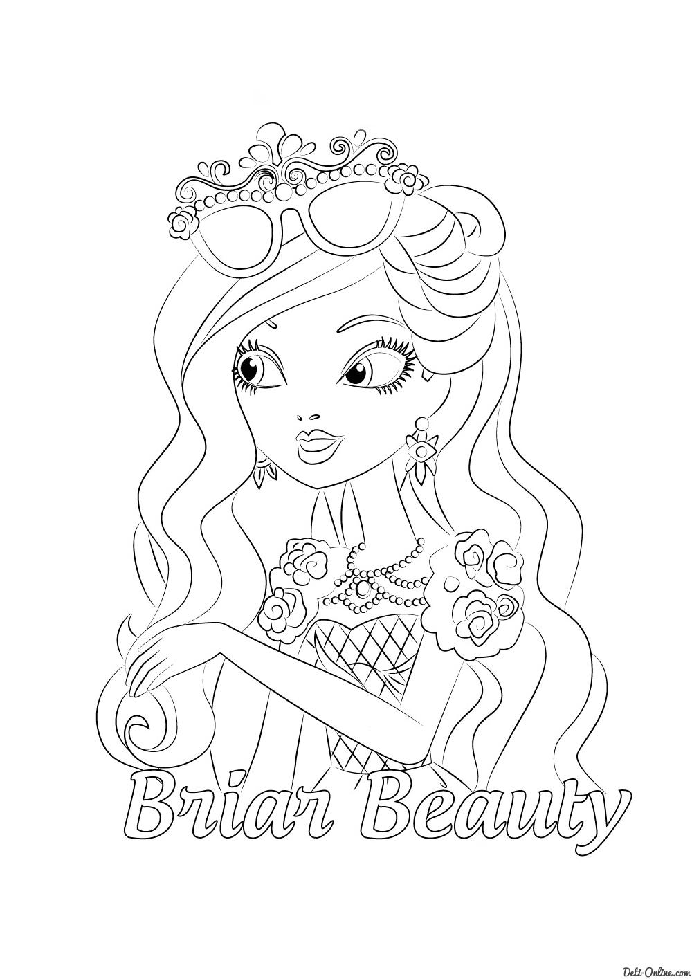Раскраска Брайер Бьюти- дочь Спящей красавицы