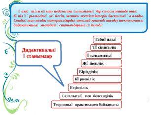 Қазақ тілін оқыту педагогика ғылымының бір саласы ретінде оның бүкіл құрылым