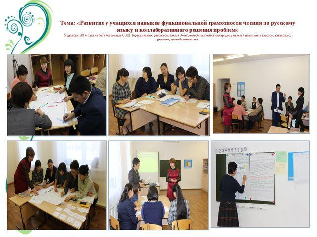 Тема: «Развитие у учащихся навыков функциональной грамотности чтения по русск...