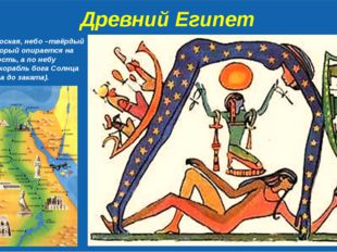 Древний Египет Земля – плоская, небо –твёрдый купол, который опирается на эт