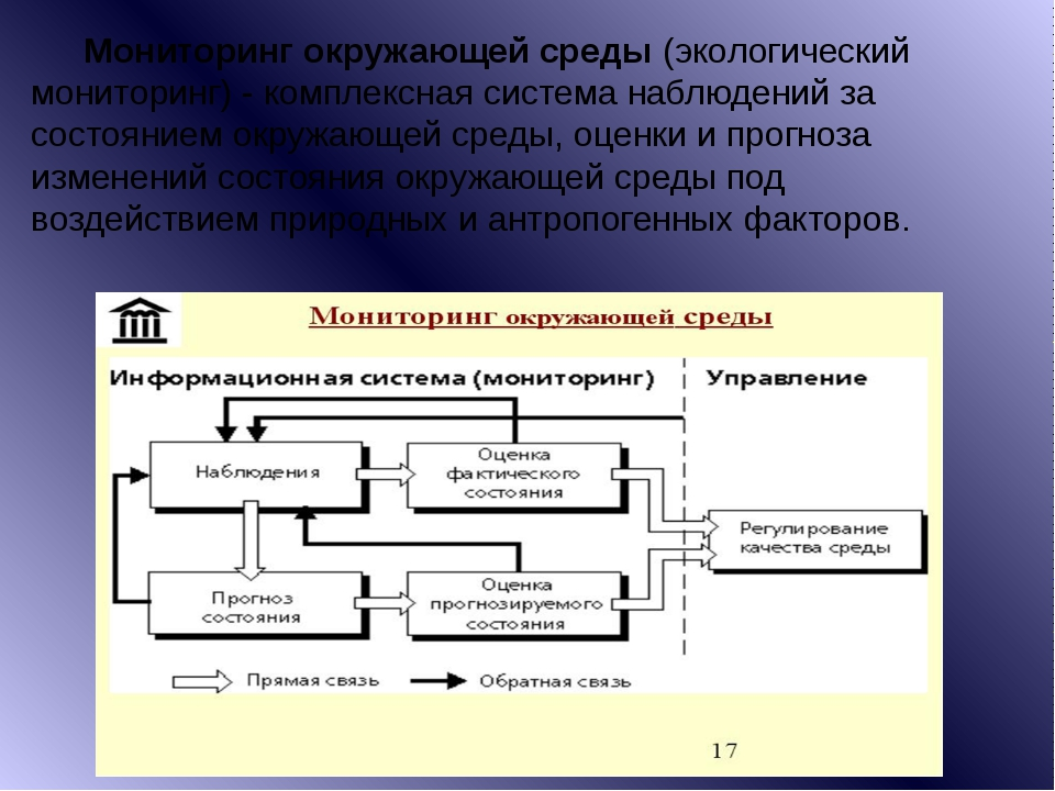 Мониторинг окружающей среды(экологический мониторинг) - комплексная система...