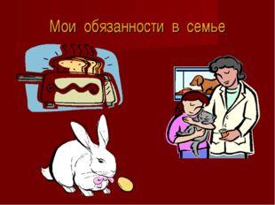 Мои обязанности в семье