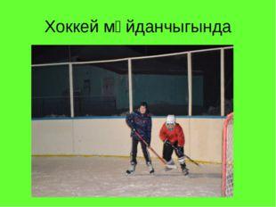 Хоккей мәйданчыгында