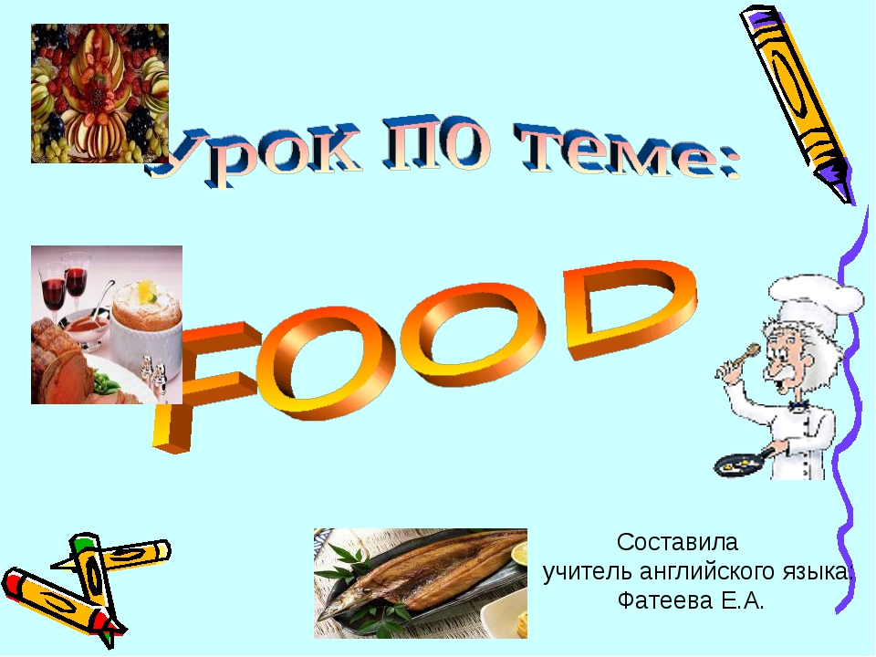 Составила учитель английского языка: Фатеева Е.А.