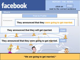 """Post to Profile """"We are going to get married."""" They announced that they were"""