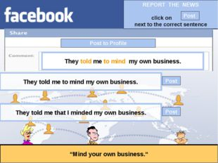 """Post to Profile """"Mind your own business."""" They told me to mind my own busines"""