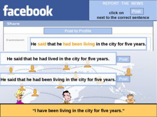 """Post to Profile """"I have been living in the city for five years."""" He said that"""