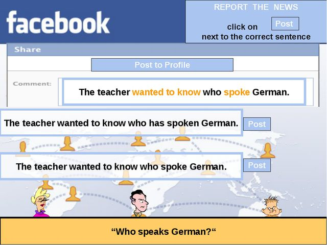 """Post to Profile """"Who speaks German?"""" The teacher wanted to know who spoke Ger..."""