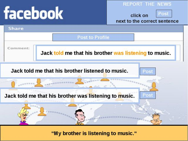 """Post to Profile """"My brother is listening to music."""" Jack told me that his bro..."""