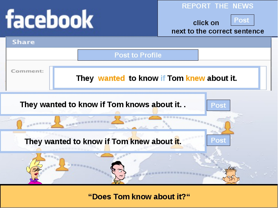 """Post to Profile """"Does Tom know about it?"""" They wanted to know if Tom knew abo..."""