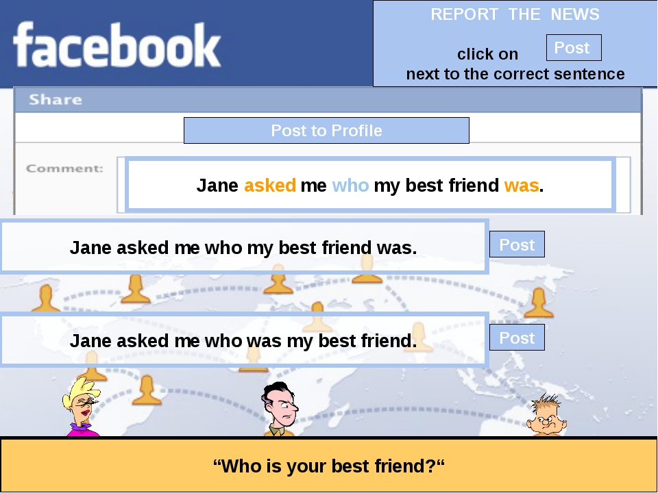 """Post to Profile """"Who is your best friend?"""" Jane asked me who my best friend w..."""