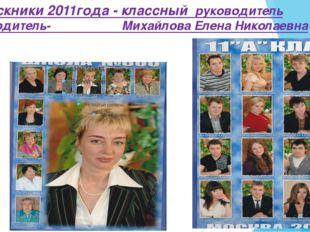 Выпускники 2011года - классный руководитель руководитель- Михайлова Елена Ник