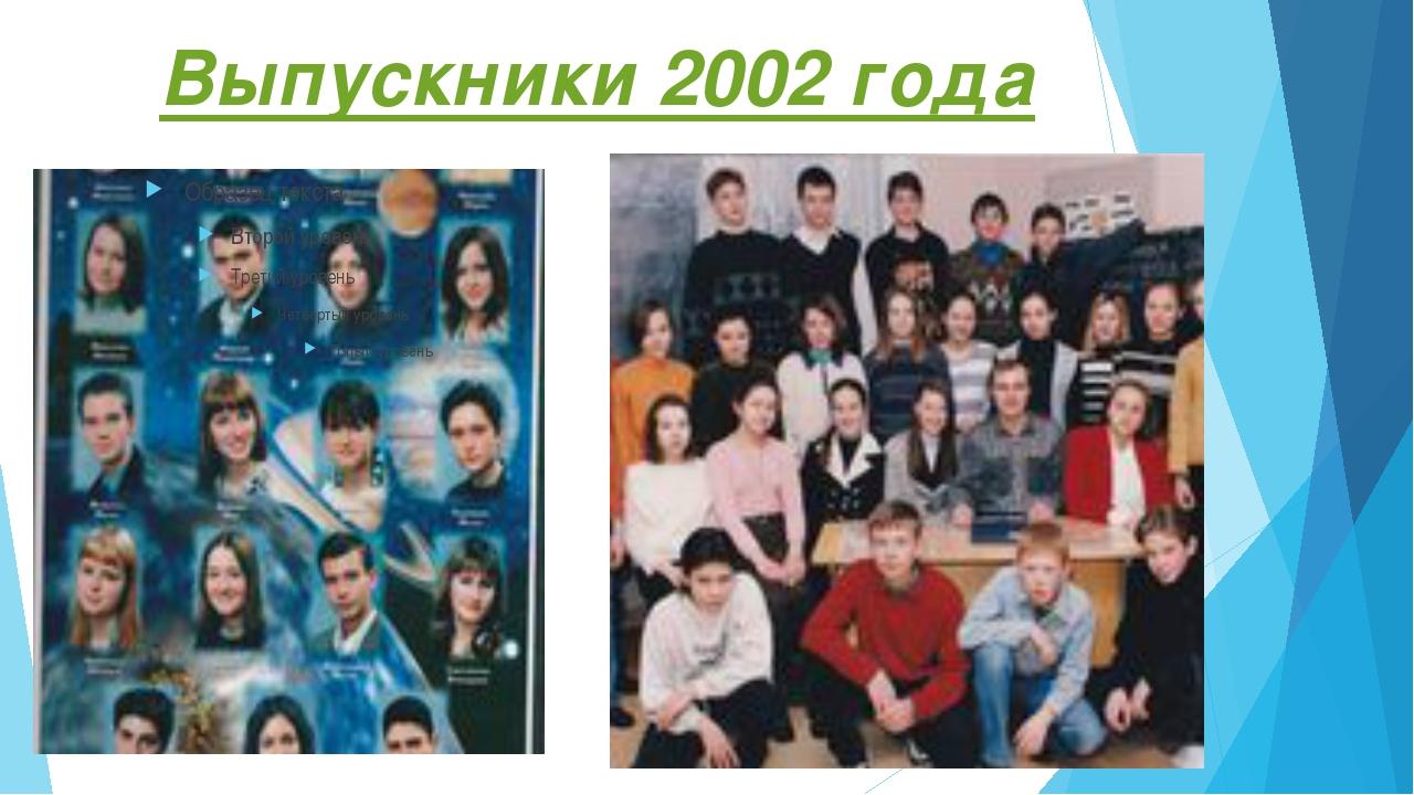 Выпускники 2002 года