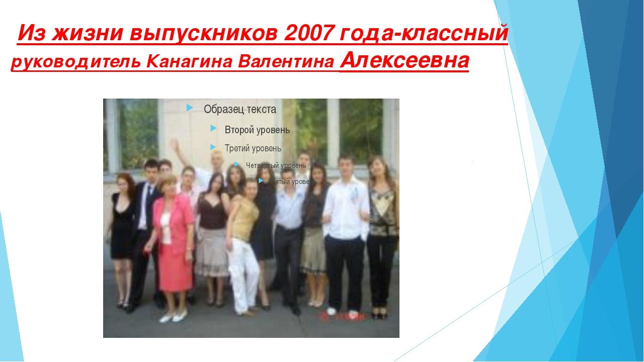 Из жизни выпускников 2007 года-классный руководитель Канагина Валентина Алек...