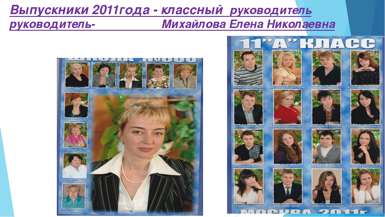 Выпускники 2011года - классный руководитель руководитель- Михайлова Елена Ник...