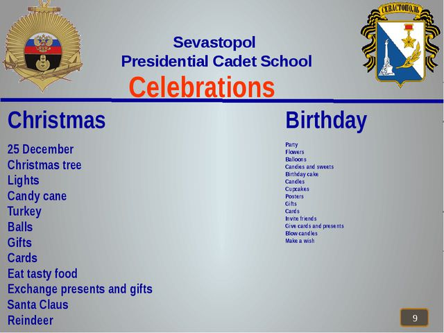 Celebrations Sevastopol Presidential Cadet School Christmas 25 December Chri...