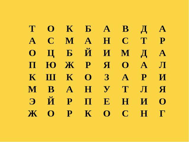 Куликова Н.А.- учитель географии МОУ Ильинская СОШ Т О К Б А В Д А А С М А Н...