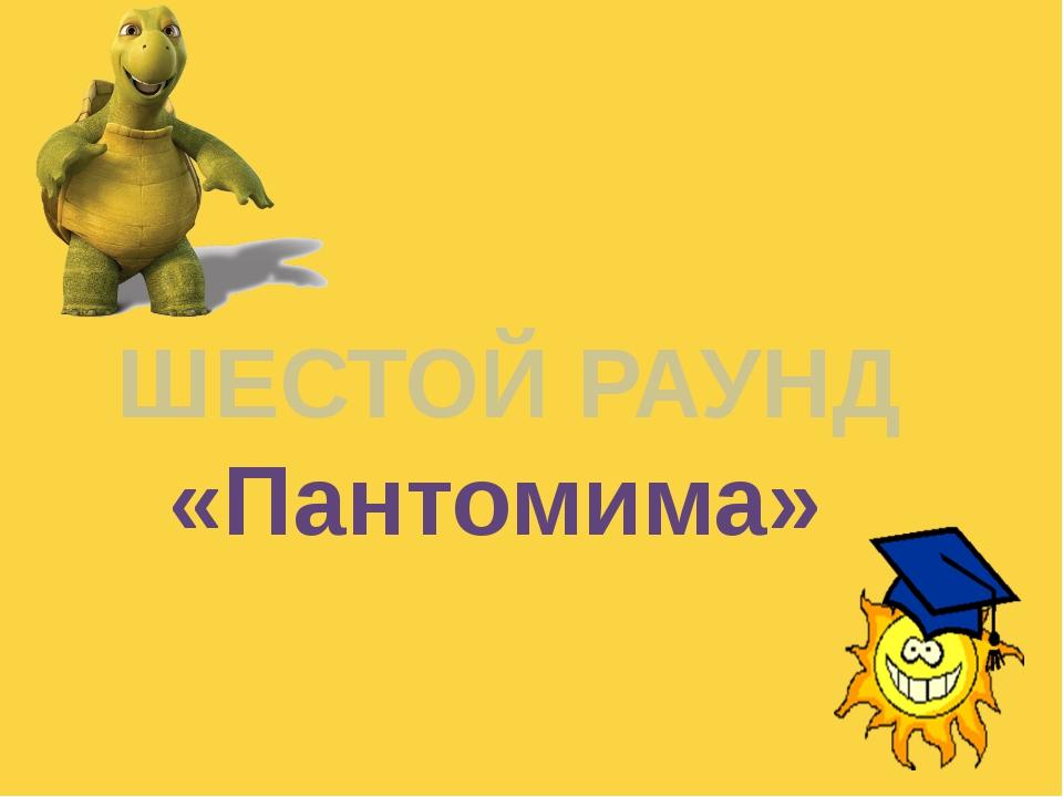 ШЕСТОЙ РАУНД «Пантомима» Куликова Н.А.- учитель географии МОУ Ильинская СОШ