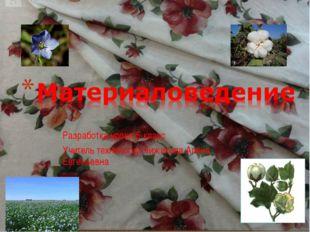 Разработка урока 5-класс Учитель технологии Чижикова Алёна Евгеньевна