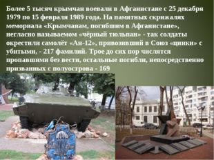 Более 5 тысяч крымчан воевали в Афганистане с 25 декабря 1979 по 15 февраля 1