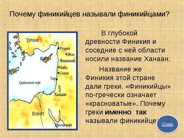 Почему финикийцев называли финикийцами? В глубокой древности Финикия и сосед...