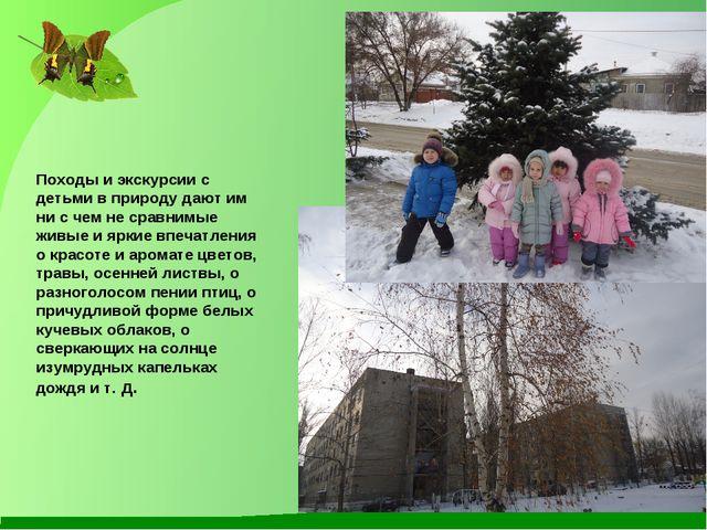 Походы и экскурсии с детьми в природу дают им ни с чем не сравнимые живые и я...