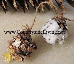 Процесс изготовления шишек с жиром и семечками для птиц. Зимний корм для птиц