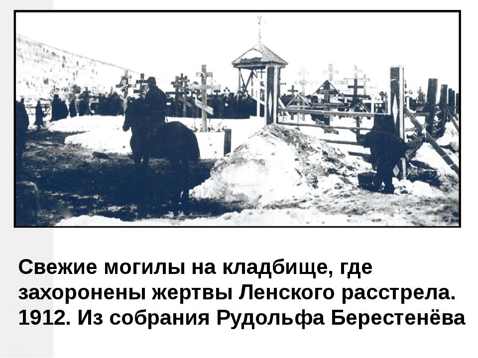 Свежие могилы на кладбище, где захоронены жертвы Ленского расстрела. 1912. Из...