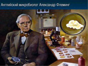 Английский микробиолог Александр Флеминг