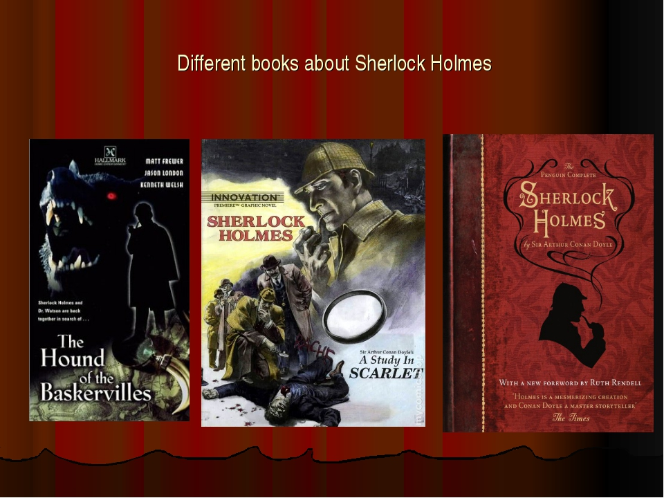 Different books about Sherlock Holmes