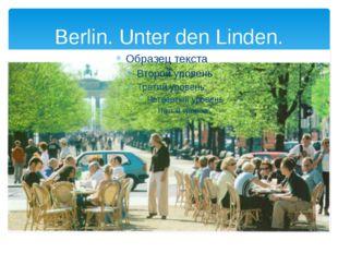 Berlin. Unter den Linden.