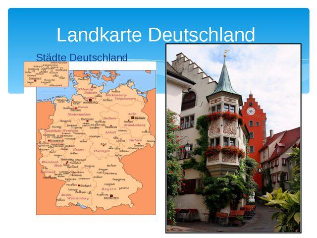 Landkarte Deutschland Städte Deutschland Autobahnnetz