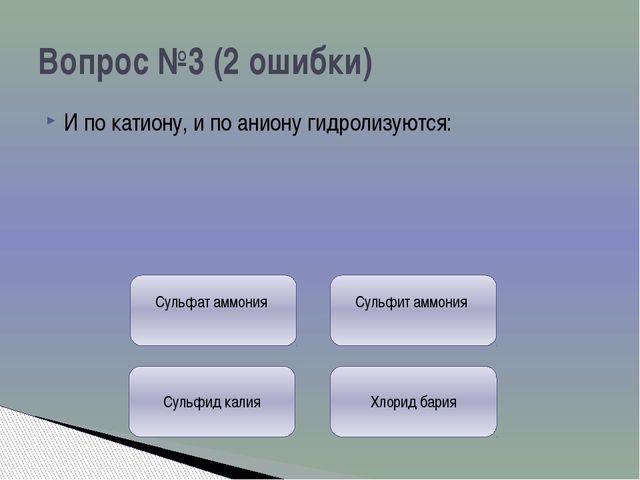 В перечне формул гидролизу подвергаются: Вопрос №5 ( 0 ошибок) 2) БВЕ 1) АГД...