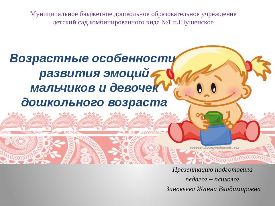 Презентацию подготовила педагог – психолог Зиновьева Жанна Владимировна Муниц...