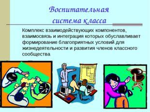 Воспитательная система класса Комплекс взаимодействующих компонентов, взаимо