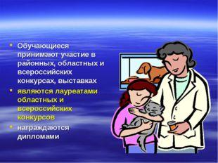Обучающиеся принимают участие в районных, областных и всероссийских конкурсах