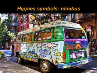 Hippies symbols: minibus