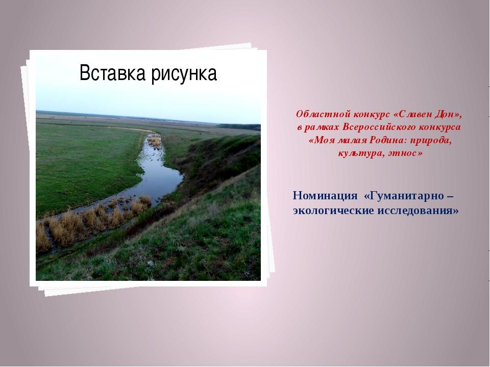 Областной конкурс «Славен Дон», в рамках Всероссийского конкурса «Моя малая Р...