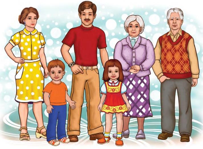 Дидактический материал картинки семья