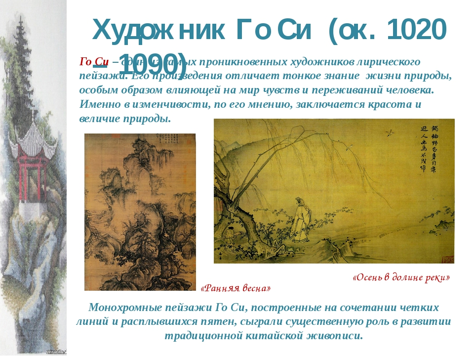 Художник Го Си (ок. 1020 – 1090) Го Си – один из самых проникновенных художни...