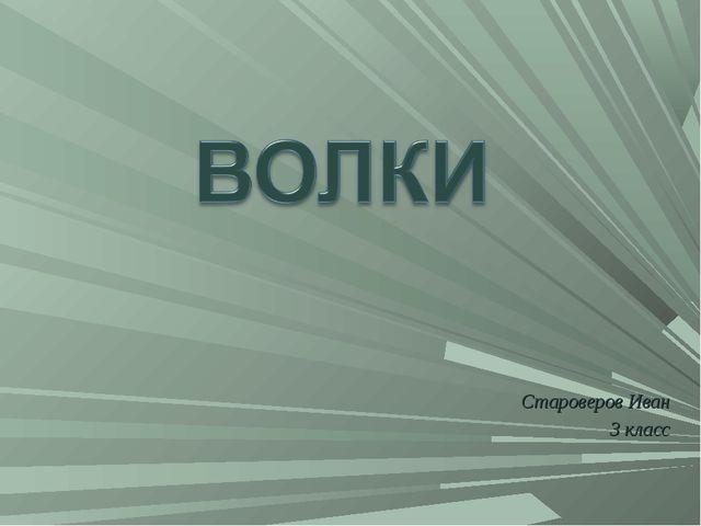 Староверов Иван 3 класс