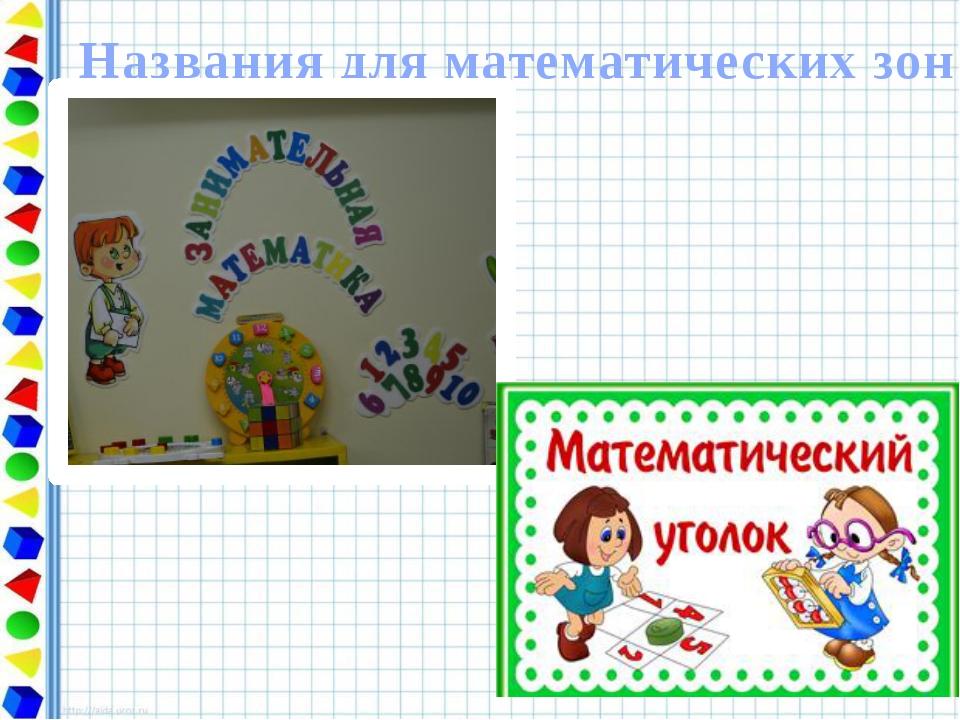 Математический уголок картинки для детского сада