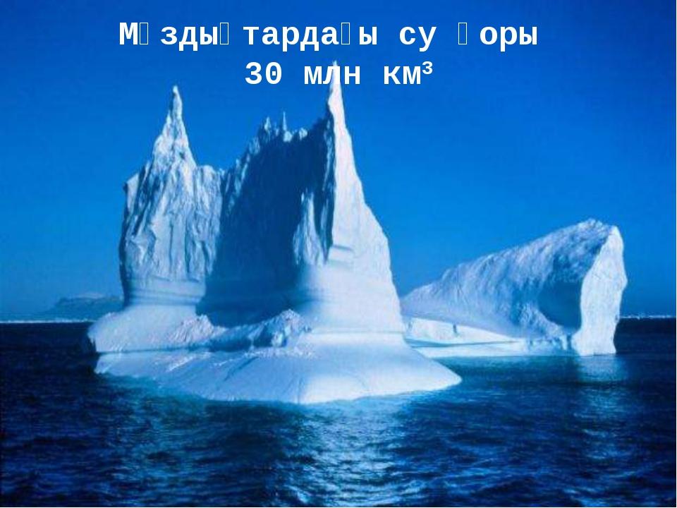Мұздықтардағы су қоры 30 млн км3