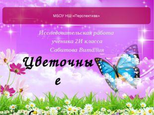 Исследовательская работа ученика 2И класса Сабитова Виталия МБОУ НШ «Перспект