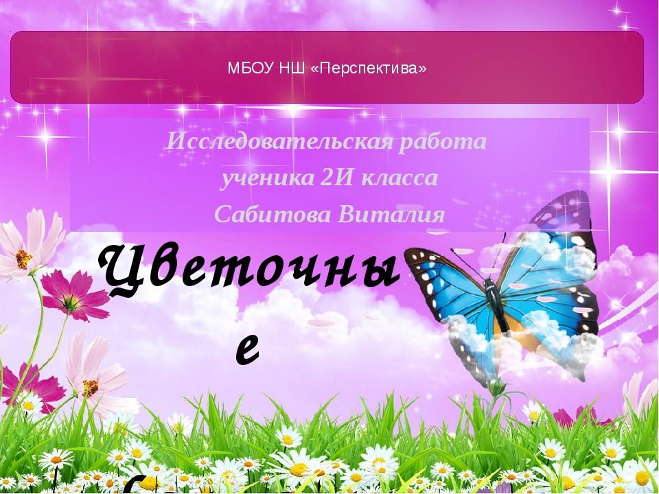 Исследовательская работа ученика 2И класса Сабитова Виталия МБОУ НШ «Перспект...
