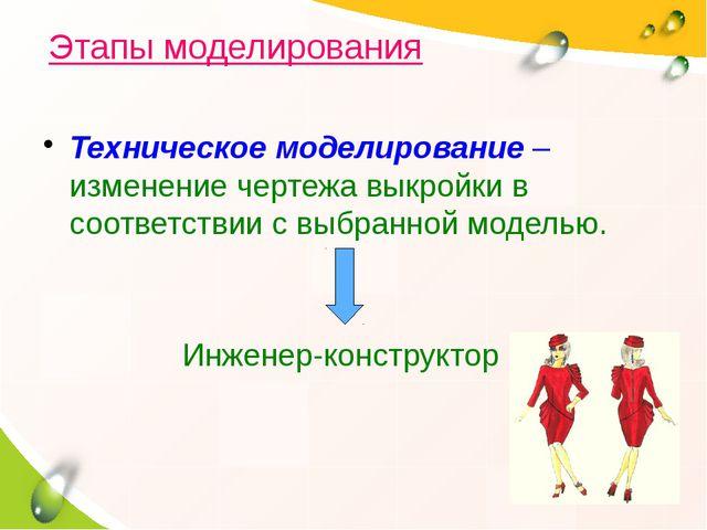 Техническое моделирование – изменение чертежа выкройки в соответствии с выбра...
