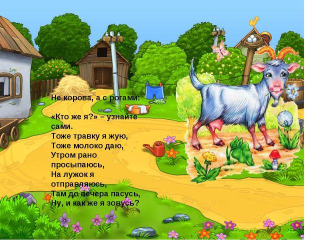 Не корова, а с рогами:        «Кто же я?» – узнайте сами. Тоже...